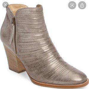 Paul Green Metallic Ankle Boots